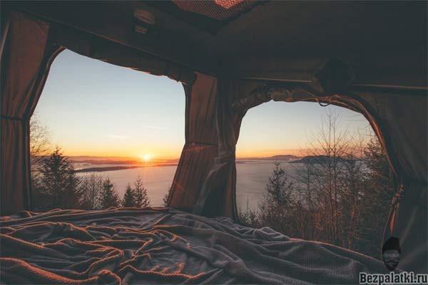 первая ночь в палатке