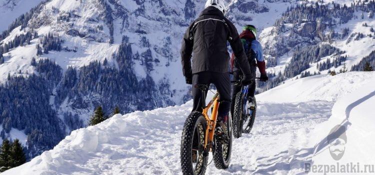 Как зимой кататься на велосипеде